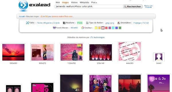 Recherche d'images Jamendo avec filtre de couleur