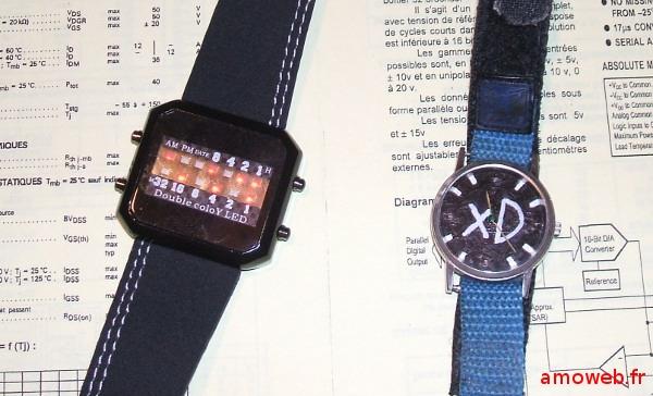 Mes montres binaires XD, geek !