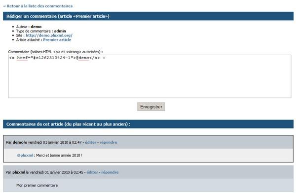 PluXml 4.3 commentaires