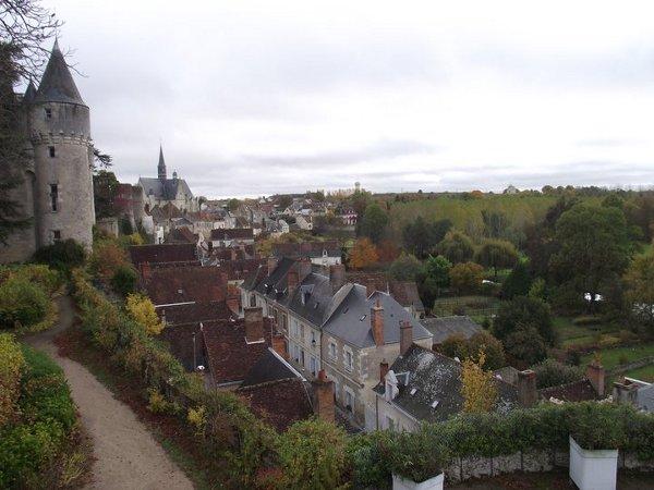Montrésor, vue du rempart du château