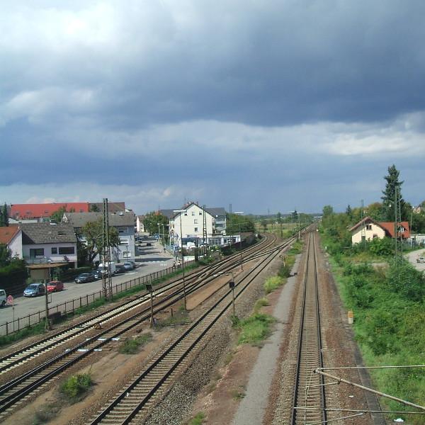 Voie ferrée : ligne Mannheim-Bruchsal
